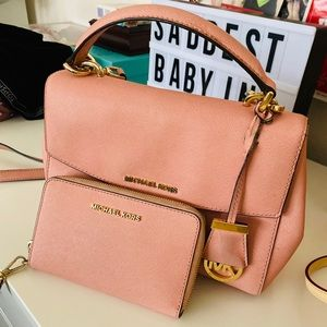 Michael Kors Pink Purse and Wallet